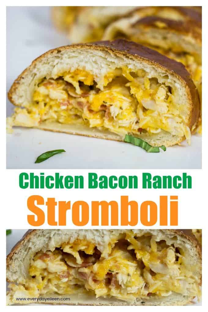 chicken bacon ranch stromboli via @/everydayeileen/