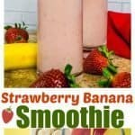 Aa collage of strawberry smoothie photos