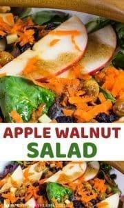 pinterest pin of apple walnut salad