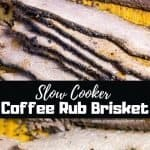 slow cooker coffee rub beef brisket collage
