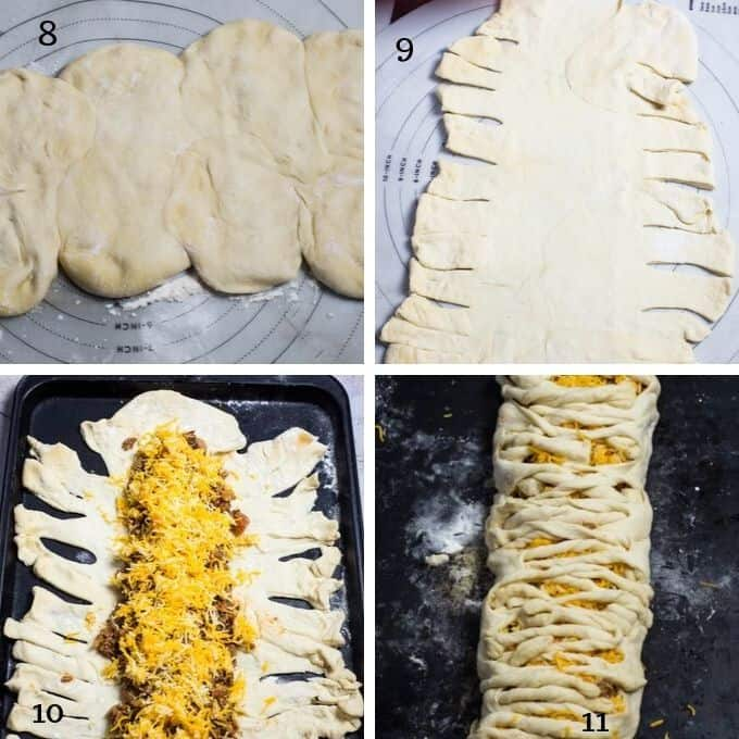 Step by step of making taco bread on rhodes dinner rpo