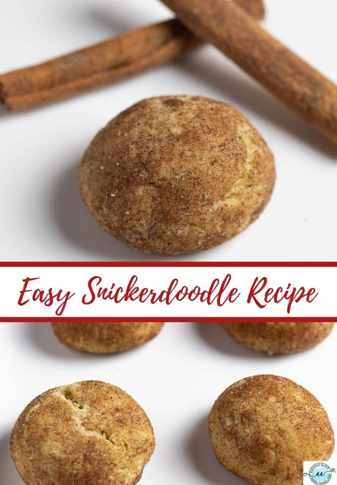 Easy Snickerdoodle Recipe, a classic cookie recipe full of cinnamon. These are puffy delights that are packed with flavor, soft, and chewy. #ad #ChristmasCookies #snickerdoodles #everydayeilen #adamsextract via @everydayeileen
