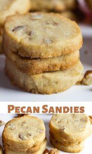 delicious pecan sandies collage photo for pinterest.