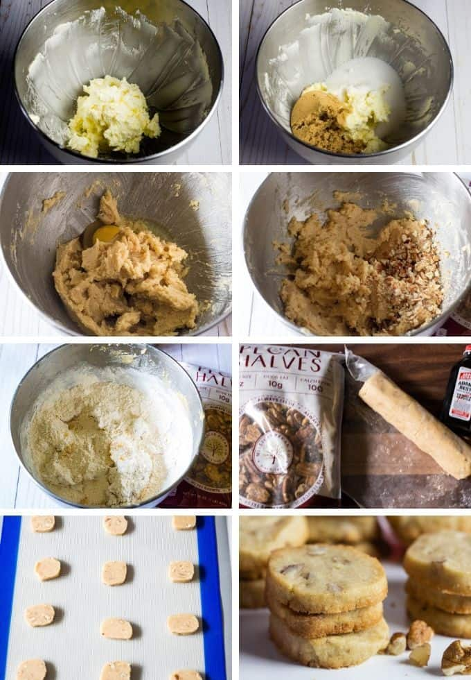 Step by step tutorial to make pecan sandies