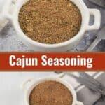 collage of cajun seasoning