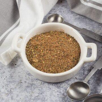 Cajun seasoning in a bowl