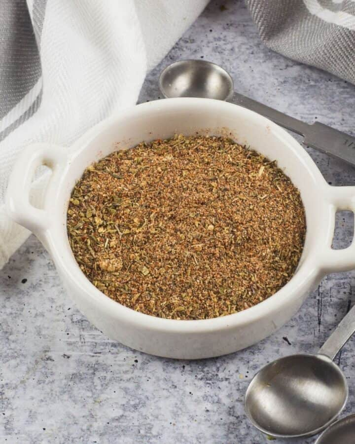 Cajun seasoning in a bowl