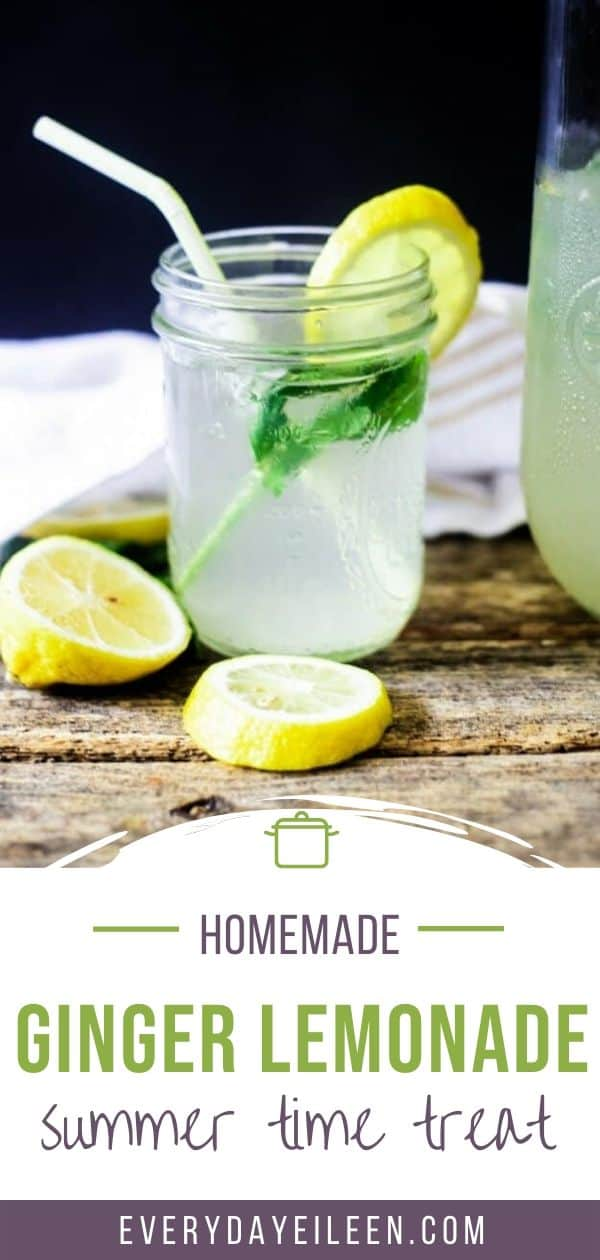 Homemade refreshing mint, ginger lemonade is a crowd-pleasing summer drink. The fresh mint and ginger syrup adds amazing flavor to the lemonade. #FarmersMarketWeek #summer #lemonade #homemadelemonade #gingerlemonade #mintlemonade #everydayeileen via @/everydayeileen/