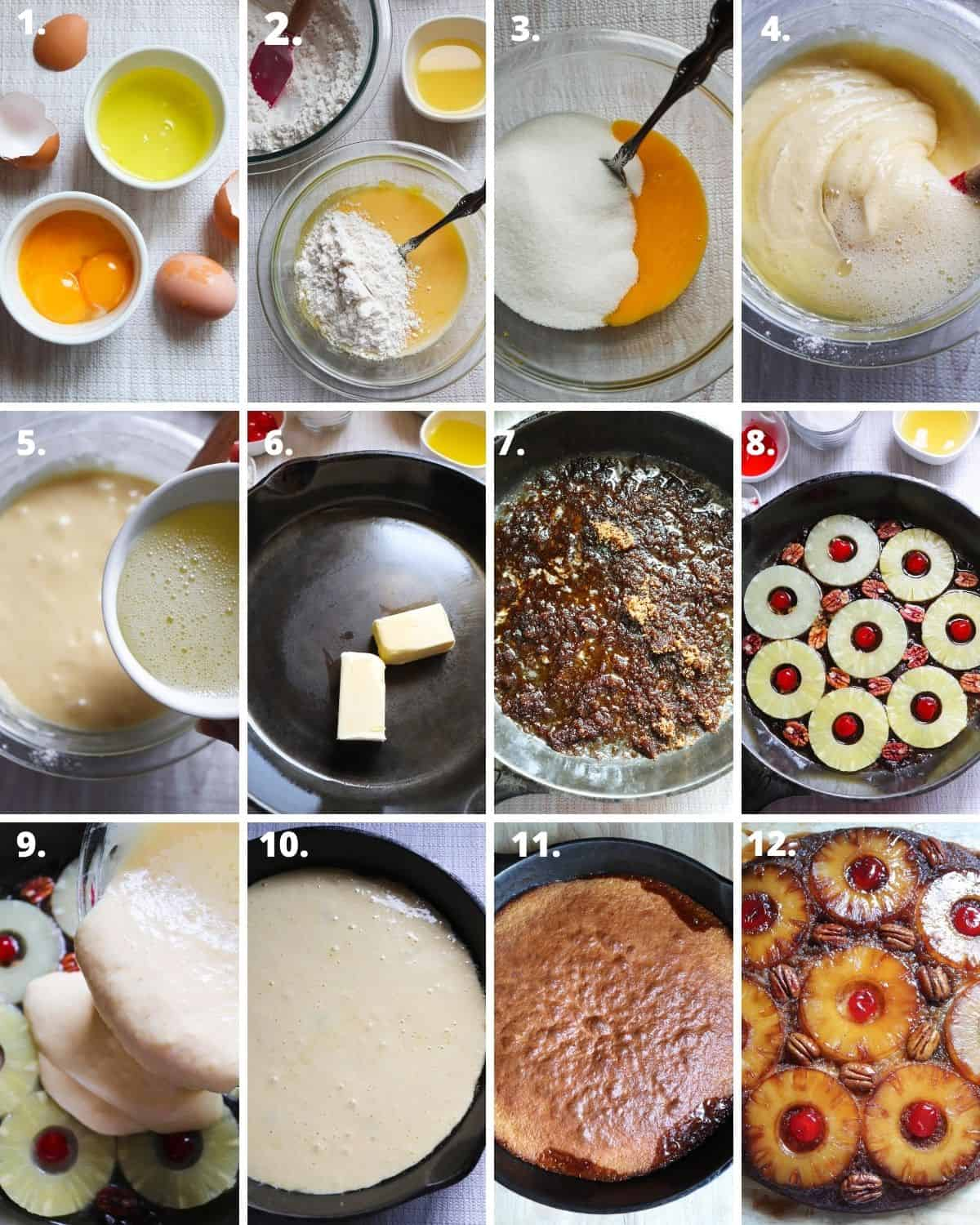 12 steps to make a delicious pineapple upside down cake