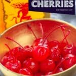 whiskey soaked cherries in a bowl