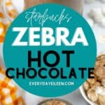 A collage of instant pot zebra hot chocolate