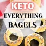 A collage of keto everything bagels