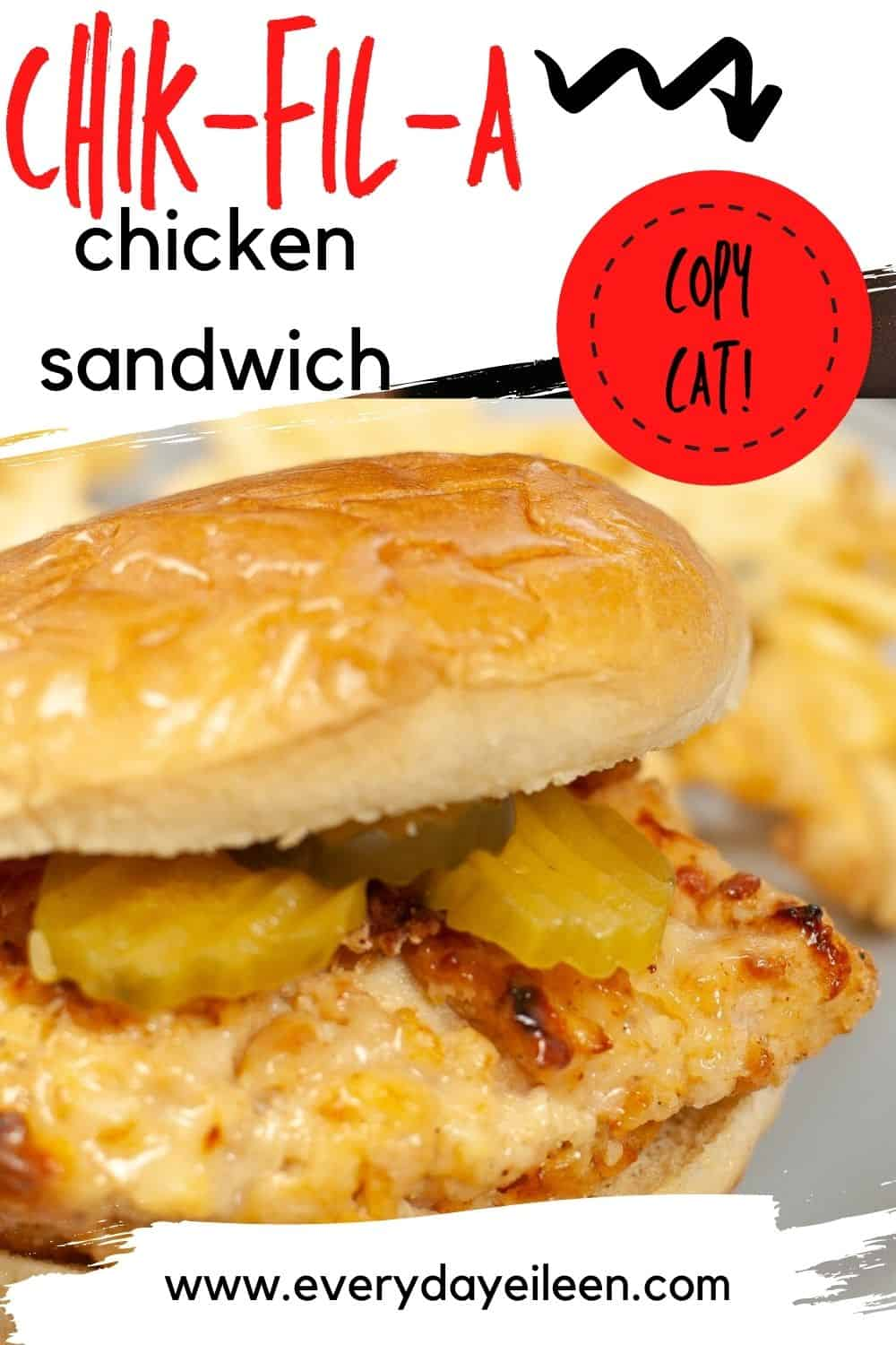 Air Fryer or Baked Chik-fil-A Chicken Sandwich, absolutely delicious and blows away any fast food sandwich. Fresh flavors and easy to make. A hit with the family every time. #chikfilachicken #chickensandwich  via @/everydayeileen/