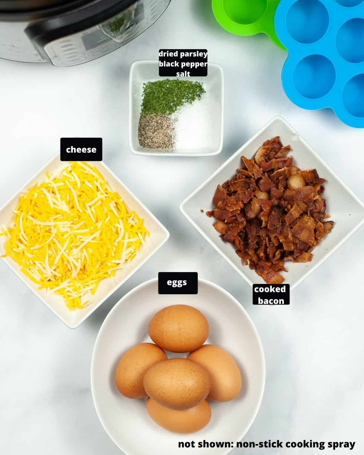 Ingredients to make instant pot e
