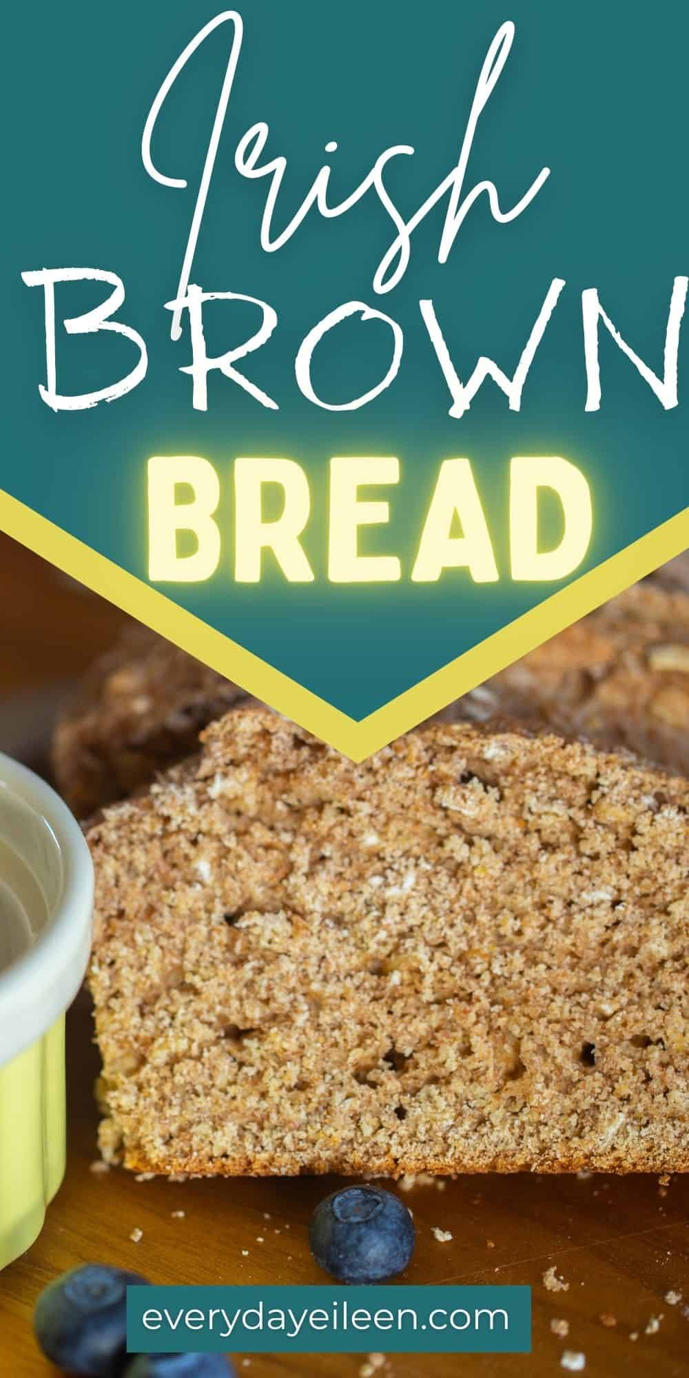 This Homemade Brown Bread Recipe is a traditional Irish bread recipe that is just delicious. The recipe has won many blue ribbons for its great taste. A simple recipe that can be made by everyone. Made with whole wheat, rolled oats, and buttermilk.  via @/everydayeileen/