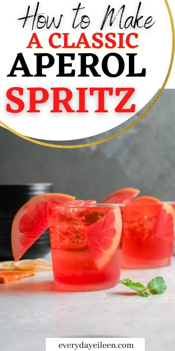 Learn how to make a classic Aperol Spritz cocktail. Just three ingredients Aperol. Prosecco, and sparkling water or club soda is all you need for this thirst-quenching Italian spritz. A fantastic beverage to serve at cocktail parties, brunch, Mother's Day celebration, and Easter. Any celebration should have this elegant and tasty cocktail.  via @/everydayeileen/