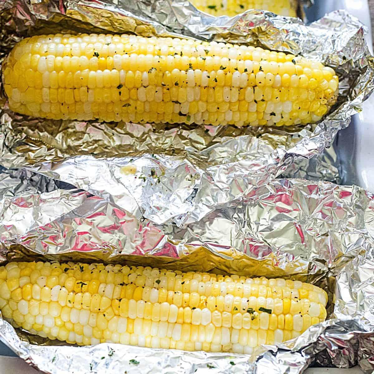 Roasted Corn in foil